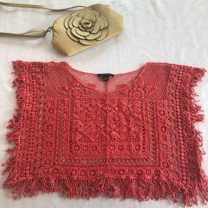 ASOS Coral Crochet Top